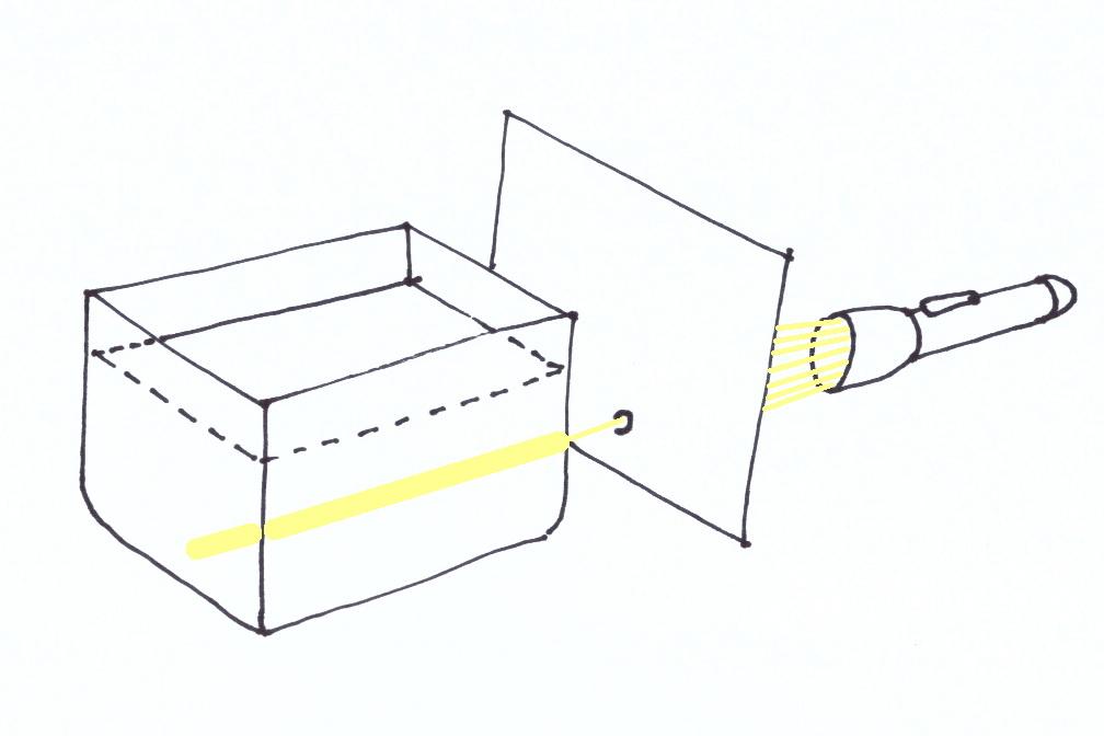 Rendiamo visibile un raggio di normalissima luce